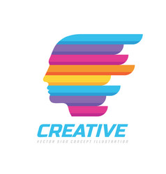 creative idea - concept logo template vector image