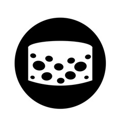 Delicious cheese isolated icon vector