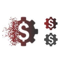 Dissipated pixel halftone financial options icon vector