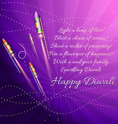Diwali background with crackers vector image