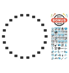 Dotted Circle Icon With 2017 Year Bonus Symbols vector