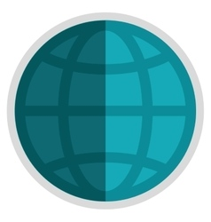 earth globe diagram icon vector image