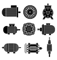 Electric motor icons vector