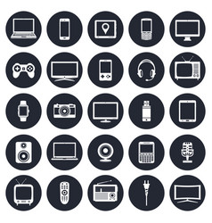 electronic devices technology gadgets icons set vector image
