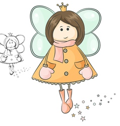 fairy winter vector image