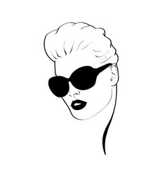 fashion monochrome design sketch woman in style vector image