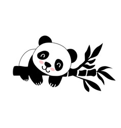 flat with panda vector image