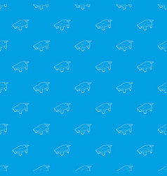 flying machine future pattern seamless blue vector image