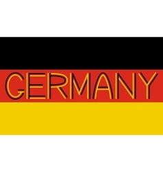 German flag and word Germany vector image