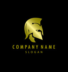 gladiator gold logo black background vector image