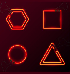 glowing neon effect abstract triangle night club vector image