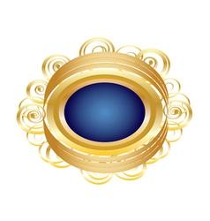 Golden Brooch vector image