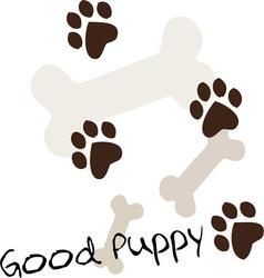 Good Puppy vector
