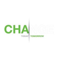 Green change background vector