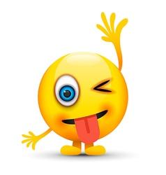 hand up emoji character vector image