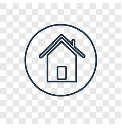 Home concept linear icon isolated on transparent vector