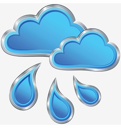 icon of rainy weather vector image