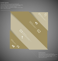 Infographic template with askew divided rectangle vector