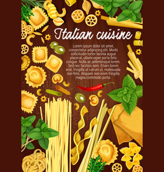 Italian pasta traditional italy cuisine cooking vector