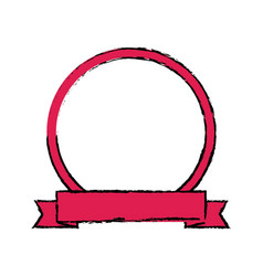 Label banner badge empty ribbon emblem vector