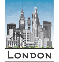 London Skyline with Gray Buildings vector image