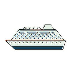 luxury cruise ship vector image
