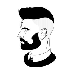 man hairstyle barber shop for your design vector image