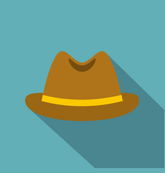 Man hat icon flat style vector