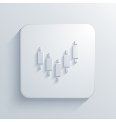modern binary options light icon vector image