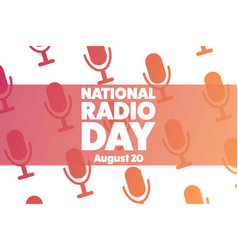 National radio day august 20 holiday concept vector