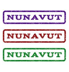 Nunavut watermark stamp vector