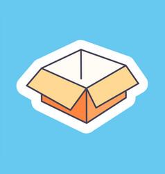 open empty cardborad box isolated vector image