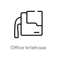 outline office briefcase icon isolated black vector image