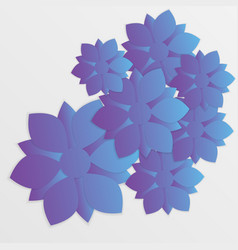 paper flower origami22 vector image