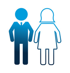 people pictogram man and woman vector image