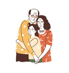 people reunion concept aged parents vector image