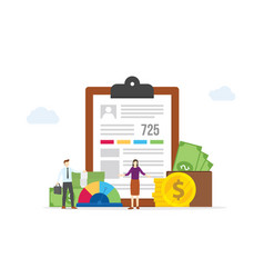 Personal data report form excellent credit report vector
