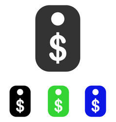 price tag flat icon vector image