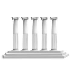 realistic temple columns ancient greek pillars vector image