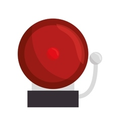 ring school alarm icon vector image