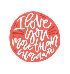 romantic handdrawn lettering vector image