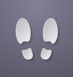 Shoe prints or Footprint icon vector image