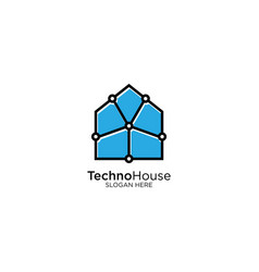 Smart home and technology logo design template vector