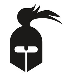 spartan warrior icon vector image