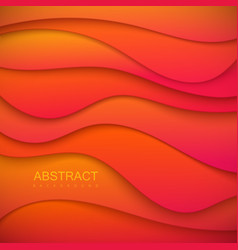 vibrant orange paper cut background vector image