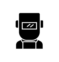 welder icon black sign on vector image