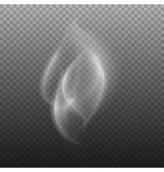 white smoke on transparent black background white vector image