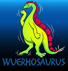 Wuerhosaurus cute character dinosaurs vector image vector image