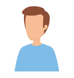 Young and casual man character vector