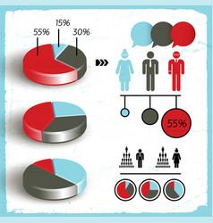 business diagram set vector image vector image